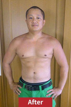 30代男性、ダイエット後の正面写真