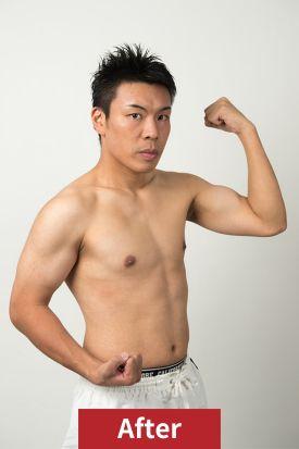 20代男性、ダイエット後の正面写真