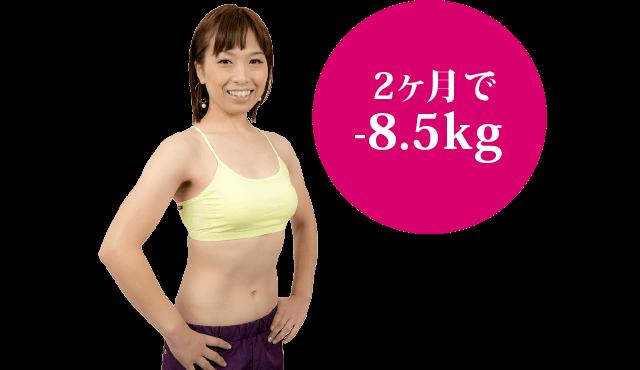 2ヶ月で-8.5kg