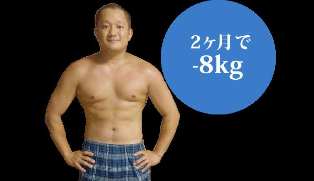 2ヶ月で-8kg