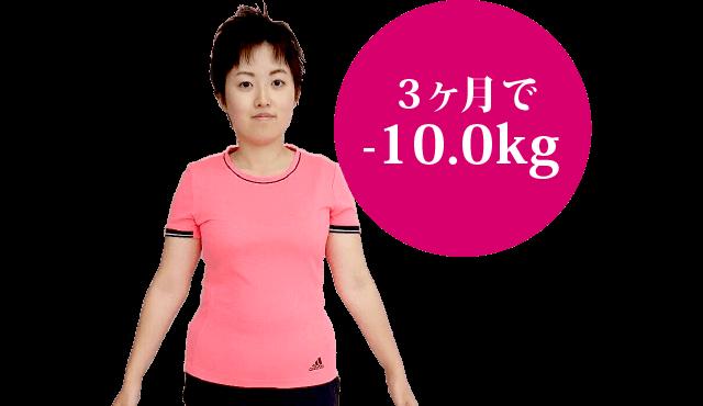 3ヶ月で-10.0kg