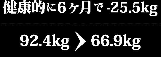 50代女性 92.4kg→66.9kg 6ヶ月で-25.5kg