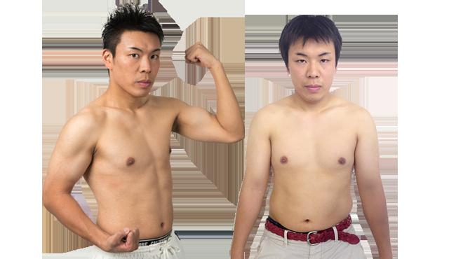 プログラム後の20代男性の外見