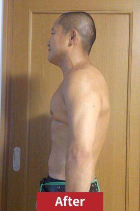 30代男性、ダイエット後のサイド写真